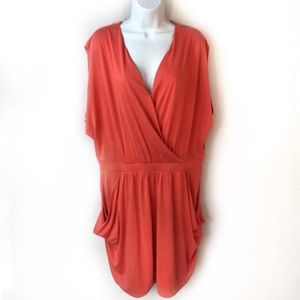 New Rachel Roy XXL Salmon/Orange Mini Dress